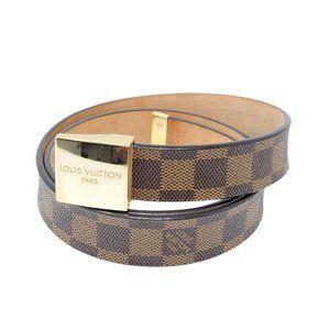 Louis Vuitton Belt Ceinture Carre Damier Goldtone